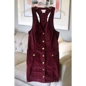 Cooperative (UO) | Corduroy Mini Jumper Dress | XS